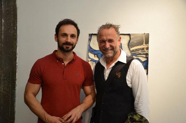 With artist Nikolai Ishchuk. photo: Nicole Ponesch