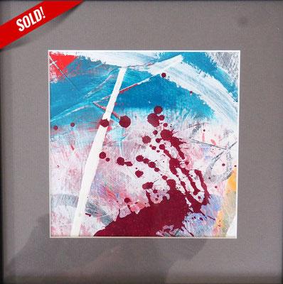 3. COLOR SPLASH, 20 x 20 cm, framed: 33 x 33 cm