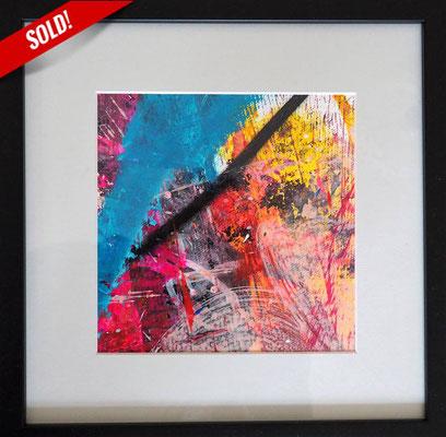 2. CELEBRATION, 20 x 20 cm, framed: 33 x 33 cm