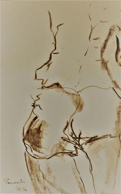 CONFIDENCE, 20x28 cm, charcoal on paper, VIENNA 2016, photo: Reinhold Ponesch ©