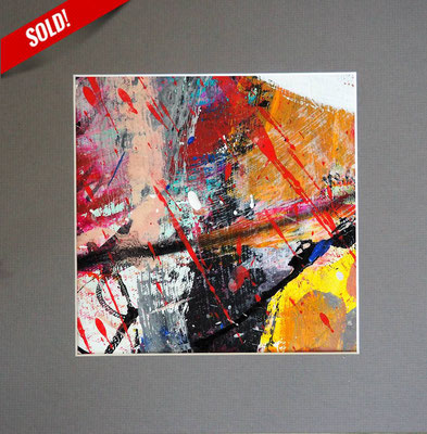 1. AUDIENCE, 20 x 20 cm, framed: 33 x 33 cm