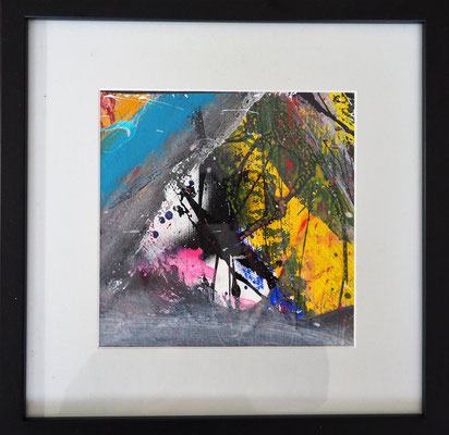 18. SPRING UPON US, 20 x 20 cm, framed: 33 x 33 cm