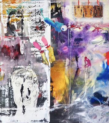 WORLD CHANGER, 180x160 cm, acrylic on canvas, Vienna 2021, Photo Reinhold Ponesch ©