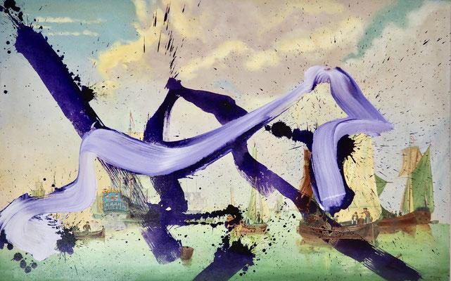 FUTHER & SON, 98x153, framed, oil, acrylic on canvas, Helmut Ponesch 1998 und Reinhold Ponesch 2019, Photo Reinhold Ponesch ©