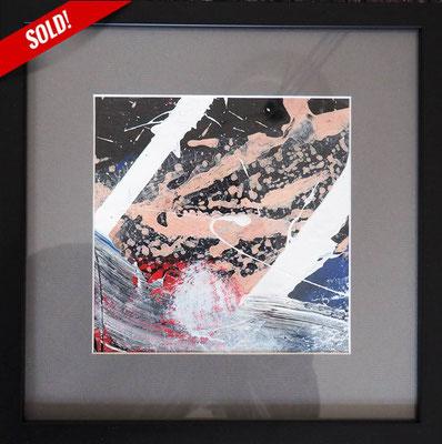 19. STARS IN THE MOONLIGHT, 20 x 20 cm, framed: 33 x 33 cm