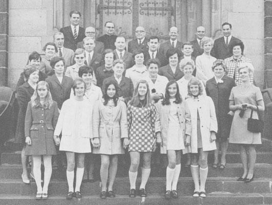 Der Chor im Jubiläumsjahr 1970