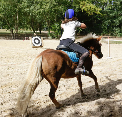 stage poney, tir à l'arc