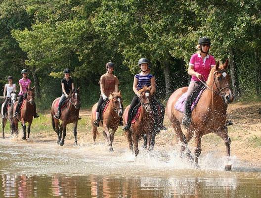Accès au Lac pour les promenades à cheval ou à poney