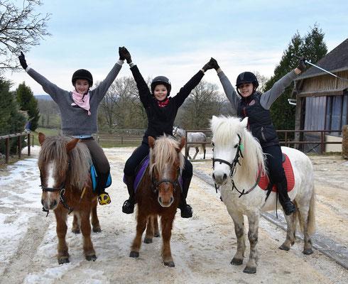 poneys et copains, une super ambiance pendant les stages d'hiver