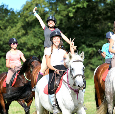 stage d'équitation, ambiance avec les copines