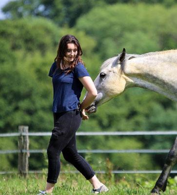 Stage d'équitation, son cheval préféré