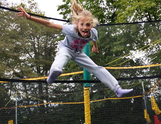 Stage d'équitation, trampoline