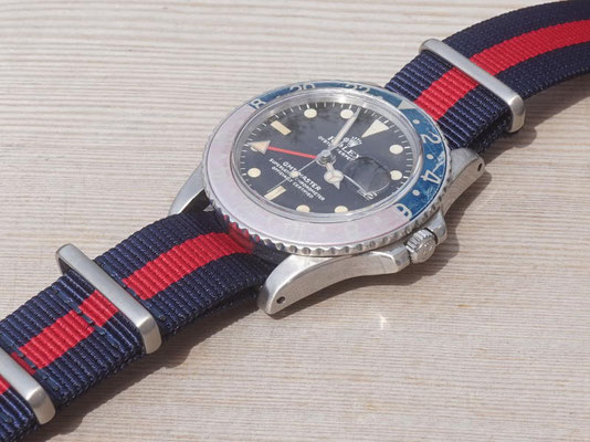 Rolex GMT Master 1675 Mark 1 Long E mit NAto Strap