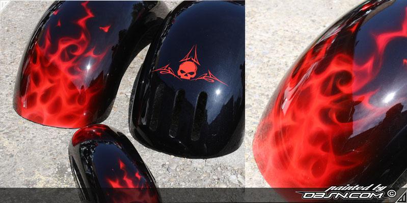 Harley Davidson Punisher head auf Trike