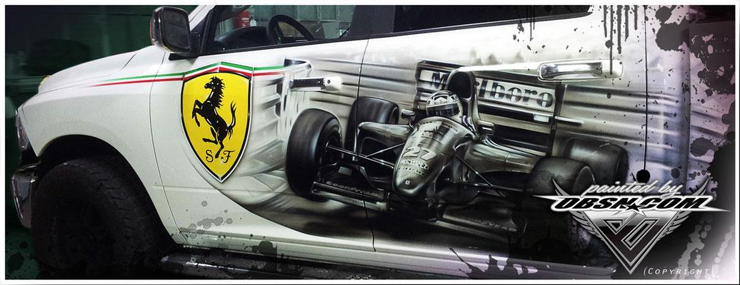 Dodge Ram, Formel 1 & Pferde, Freihandarbeit