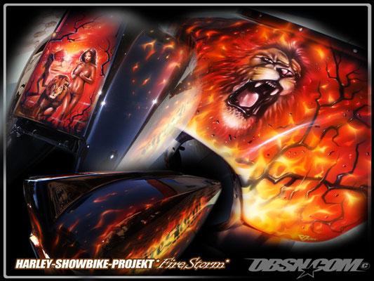 Showbike Projekt Firestorm komplettes Bike3
