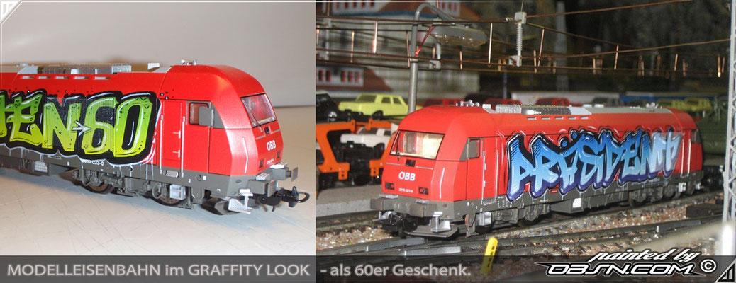 Modelleisenbahn Graffiti Miniatur