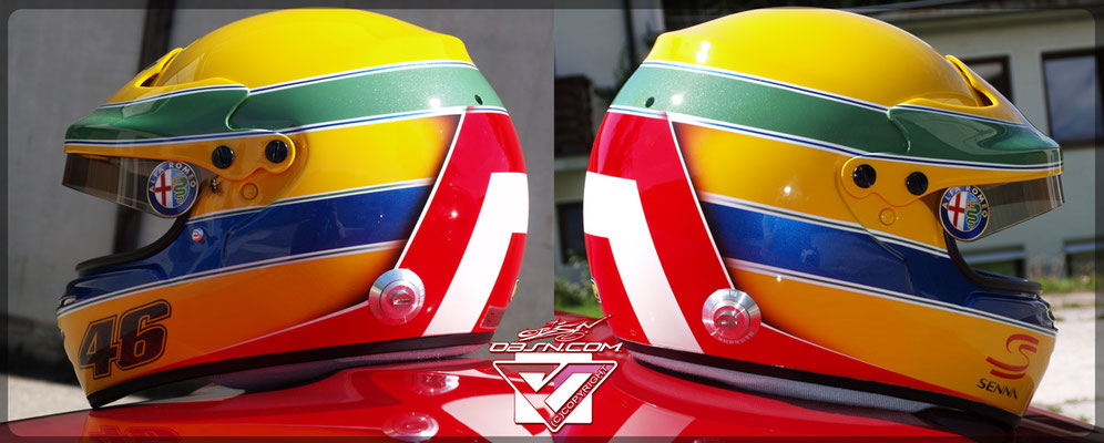 Senna, Rossi, Tribute Helm !
