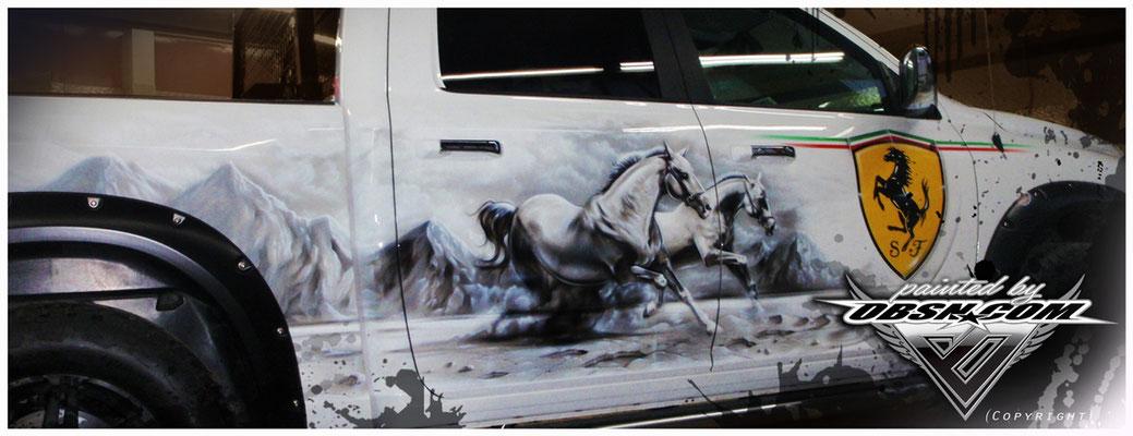 Dodge Ram Formel 1 & Pferde Design Kombi