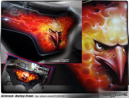 Airbrush Harley Davidson Front