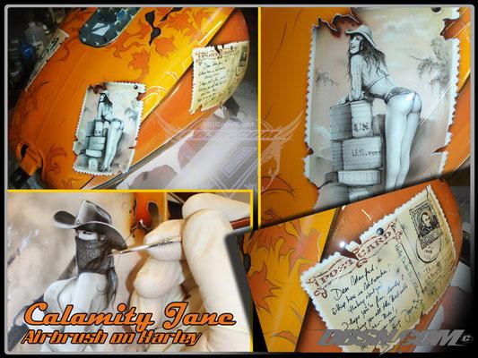 Calamity Jane on Tour - Airbrush, Pinstriping und Pinseltechnik