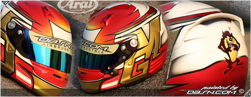 GM, Arai-Helmet, Airbrush, Taz und Red_Candy_Metallic
