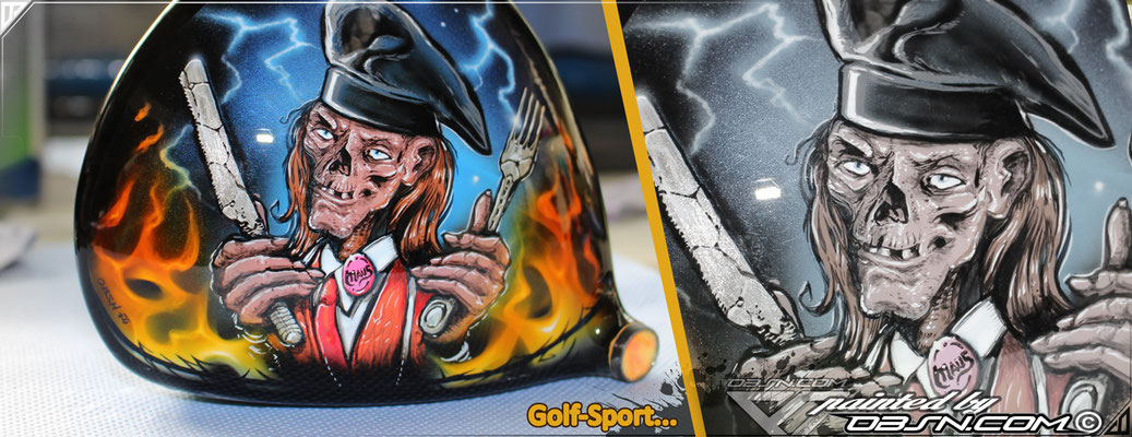 Golfschläger Driver Kombination Airbrush & Boscostifte