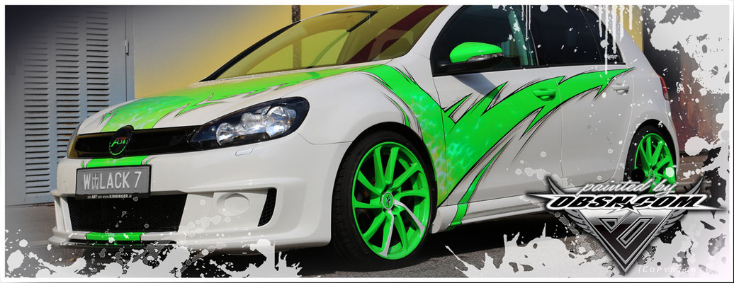 VW Golf ABT Tuning mit extravagantem Lackdesign