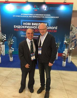 С президентом ESGE профессором Andrea Genazzani на Европейской школе по гинекологической эндокринологии
