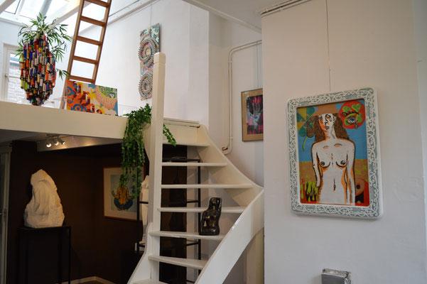 Urban Art van Aschwin Huiskes en beelden in natuursteen, brons en hout van Frieda Waanders