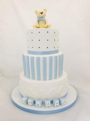 Detalle de tarta en Mesa dulce tipo Teddy Bear | Dulce Dorotea