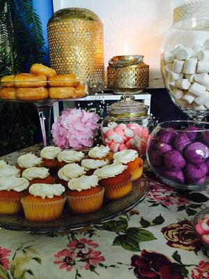 detalle de mesa dulce elaborada en Valencia por Dulce Dorotea