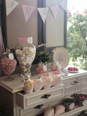 Detalle mesa dulce decorada Pink Hipo, foto I  | Dulce Dorotea