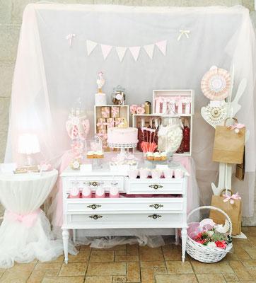 Mesas dulces valencia dulce dorotea for Mesa de dulces para bautizo de nina