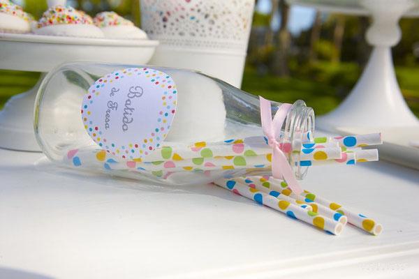 Detalle decoración de mesa dulce para bautizo baby bunny | Dulce Dorotea