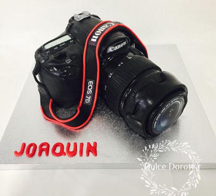 Tarta cámara de fotos Canon diseño de Dulce Dorotea.