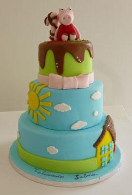 Tarta de cumpleaños Peppa Pig de Dulce Dorotea