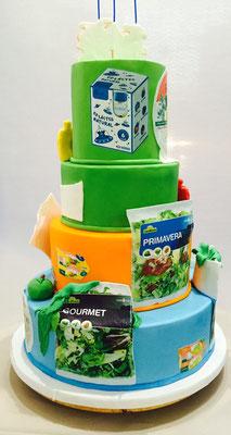 Detalle de la tarta para la empresa GAC /egrupo alimentario citrus en  su aniversario diseño de Dulce Dorotea Valencia