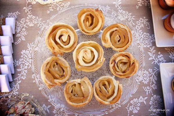 Rosas de manzana con hojaldre de Dulce Dorotea Valencia