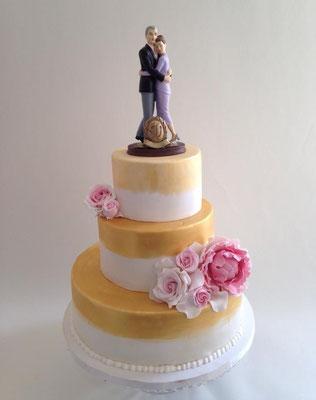 Tarta 50 aniversario o bodas de oro de Dulce Dorotea
