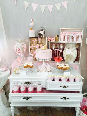 Mesa dulce para bautizo o baby shower de Dulce Dorotea