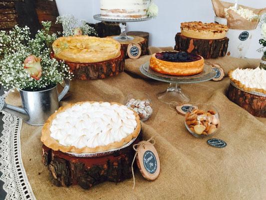 Detalles mesa dulce Alquería, estilo rústico o clásico. Lateral II | Dulce Dorotea
