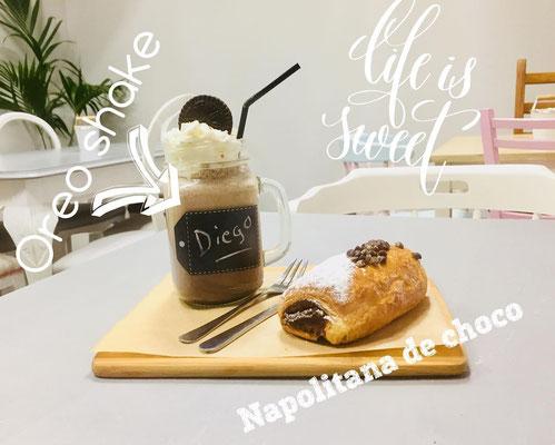 Especialidad dulce: oreo shake + Napolitana de chocolate | Dulce Dorotea, tu cafetería en Quart de Poblet