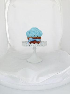 Muffin azul de la mesa dulce marinera de Dulce Dorotea