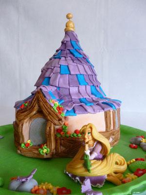 Tarta de Rapunzel de Dulce Dorotea
