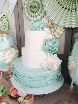 Detalle de tarta de boda elaborada por Dulce Dorotea