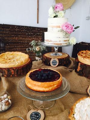 Detalles de repostería francesa de mesa dulce Alquería (estilo rústico o clásico) | Dulce Dorotea