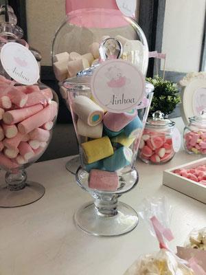 Detalle dulces mesa dulce decorada Pink Hipo, foto III  | Dulce Dorotea