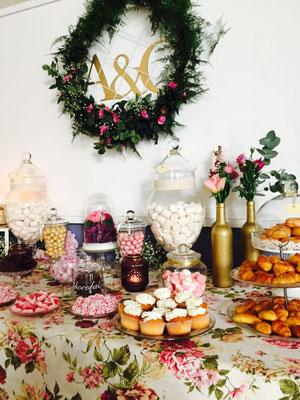 Mesa dulce estilo romántico de Dulce Dorotea