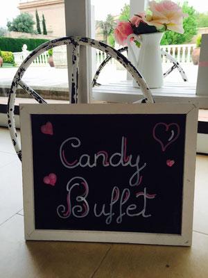 Cartel decorativo del candy buffet en carro, de Dulce Dorotea